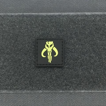 MANDALORIAN CAT EYE GITD PVC PATCH
