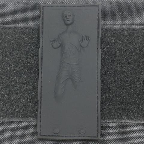 HAN SOLO IN CARBONITE EMBOSSED PVC MORALE PATCH