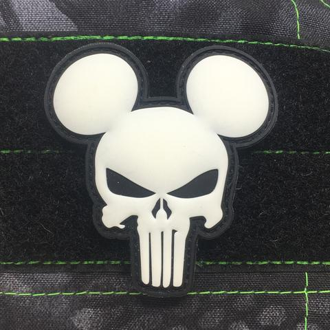 MICKEY PUNISHER GITD PVC MORALE PATCH