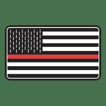 Thin Red Line Freedom Flag Patch